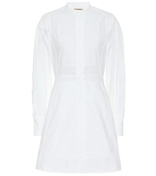 Burberry Cotton shirt dress in white