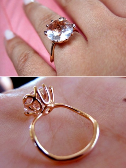 jewels ring oui cute gold rose gold engagement ring stunning ring