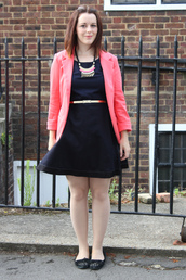 jacket,blazer,persunmall blazer,persunmall,peach,pink,black,outfit,fashion