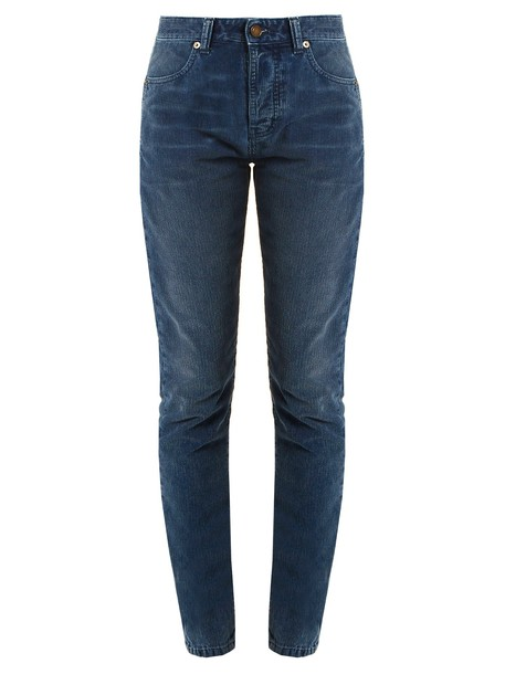 Saint Laurent high blue pants