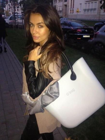 jacket designer white bag night cool bags big bag natalia smart casual
