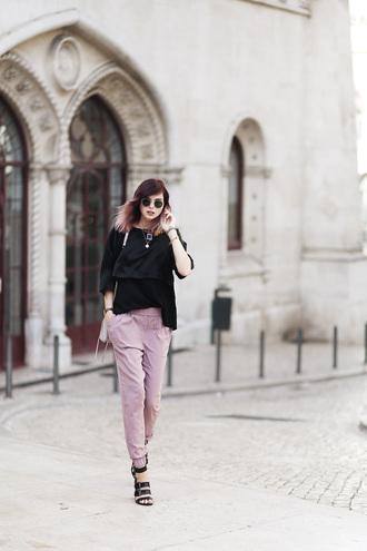 bekleidet blogger pants t-shirt dusty pink