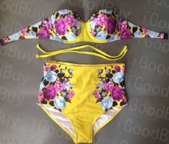 Aliexpress.com : buy 2015 sexy 12 colors retro pin up bow bandeau high waisted bikini for women,vintage swimsuit high waist swimwear,plus size xl from reliable waist wrap suppliers on igoodbuy