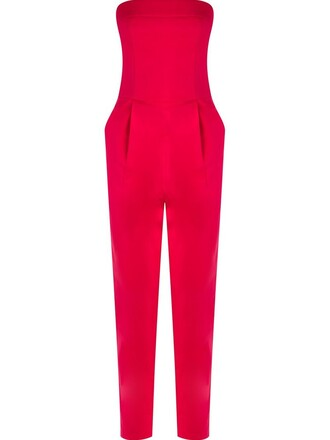 jumpsuit strapless women spandex cotton purple pink