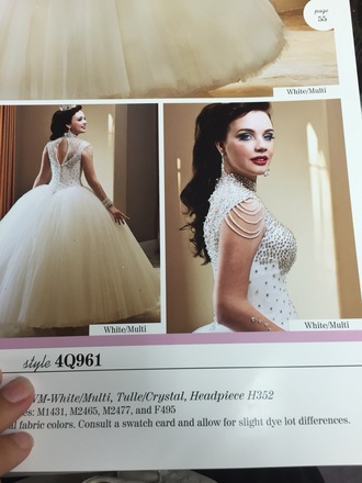 dress white/multi ball gown dress quinceanera dress wedding dress beaded ball gown ball gowns off-white dress sweet 16 dresses champagne dress