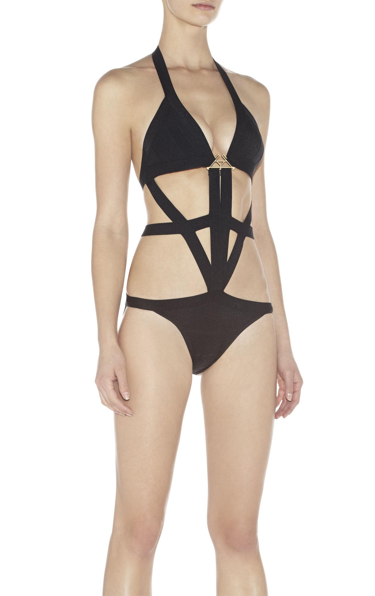 Skyler Hardware-Embellished One-Piece Swimsuit
