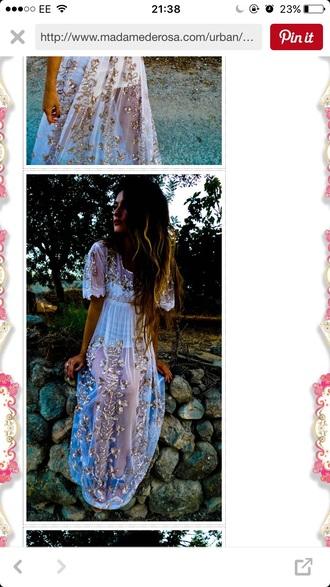 dress boho chic boho bohemian hippie prom dress embellished dress maxi dress sheer summer dress hippie chic