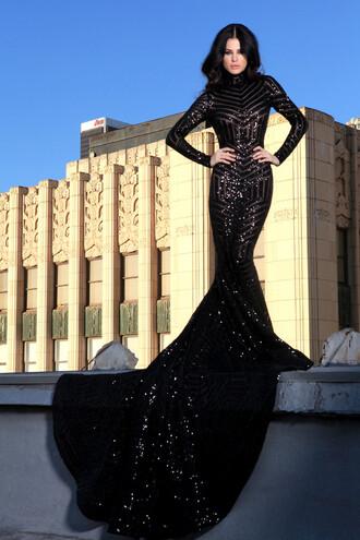 dress black prom wedding backless elegant long prom dress wedding dress gown long train sequin dress elegant long sleeve dress