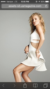 dress,kate hudson,white cut out dress,shape magazine,cut-out dress,white dress,mini dress,celebrity style