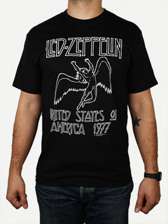 Shirt led zeppelin usa 77