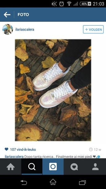 shoes nike irediscent pearl sneakers