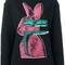 Mcq alexander mcqueen glitch bunny print sweatshirt, women's, size: large, black, cotton/polyester
