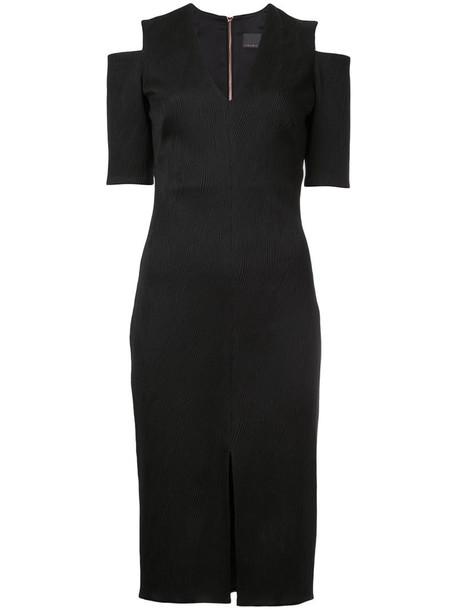 GINGER & SMART dress women spandex black