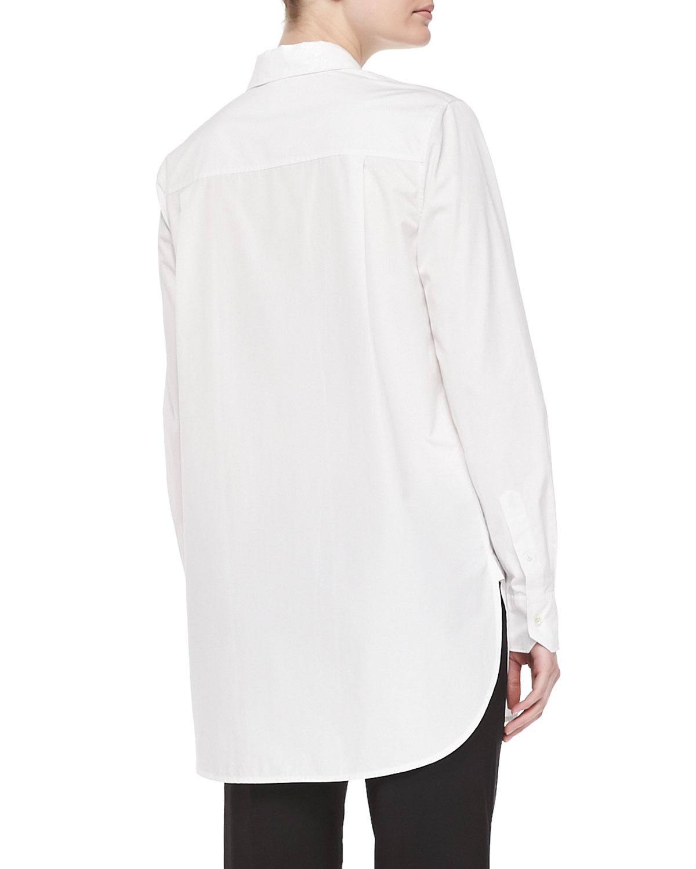 Long-Sleeve Button-down Tunic