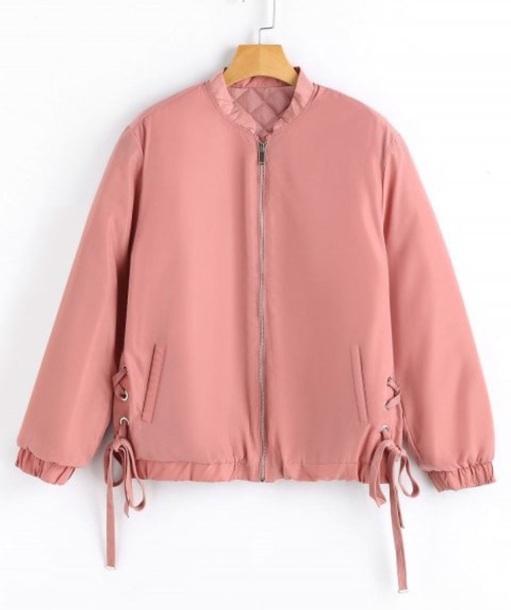 jacket girly pink bomber jacket