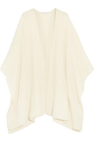 poncho wool cream top