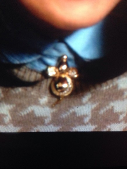 jewels necklace carrie diaries mouse gold