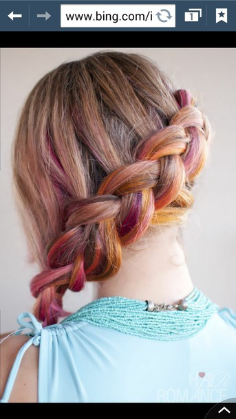 hair accessory braid brunette highlights hairstyles
