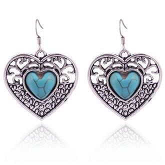 jewels gamiss boho boho chic heart earrings trendy style
