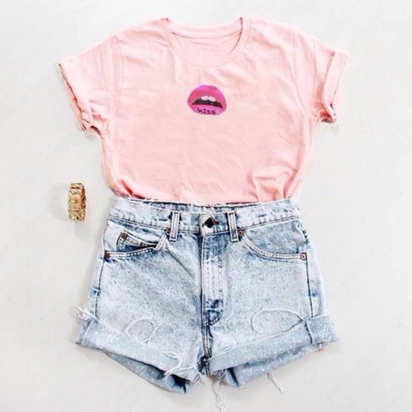 cute t-shirt top pink