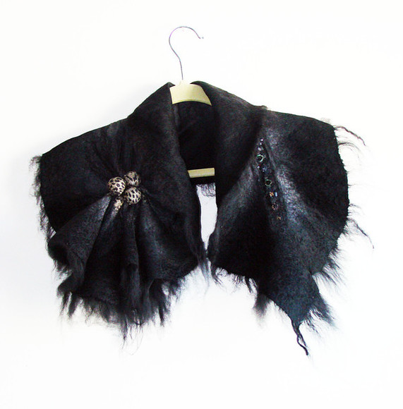 scarf accessories felted scarf neck warmer wool scarf neck warmers