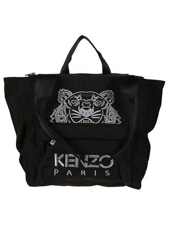 embroidered tiger black bag
