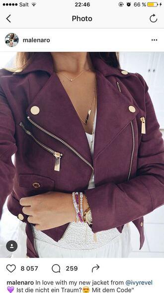 jacket purple perfecto leather jacket