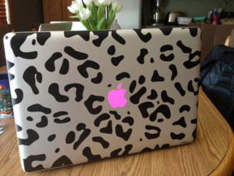 macbook decal leopard print macbook case laptop case computer accessory