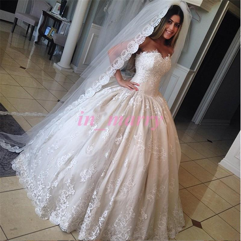 Princess Cinderella Wedding Dresses Pictures 2015 Ball Gown ...