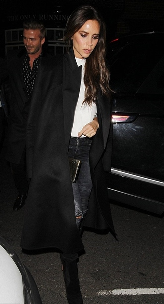 coat victoria beckham fall outfits jeans