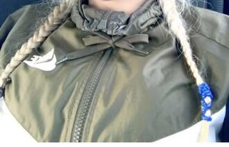 jacket olive green windbreaker live green nike wind runner nike nike windrunner olive green