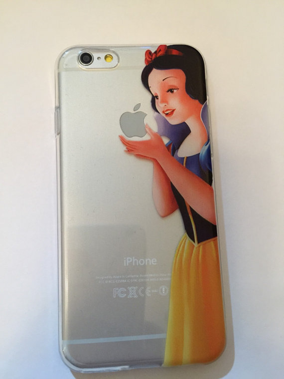 big sale edd35 80508 Snow White - Flex iPhone 6 , 6, 5s, 5c, 5, 4s, 4 phone case Disney inspired  protective silicone flexible case