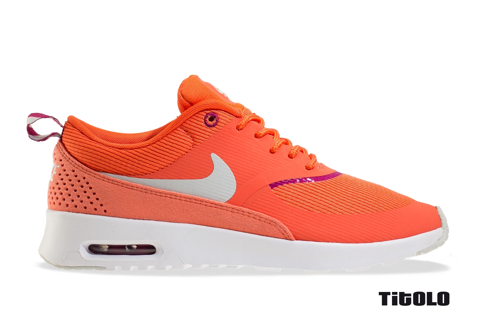 Nike Wmns Air Max Thea 599409-800 599409 800 Turf Orange/Spray-Bright Magenta-Wh