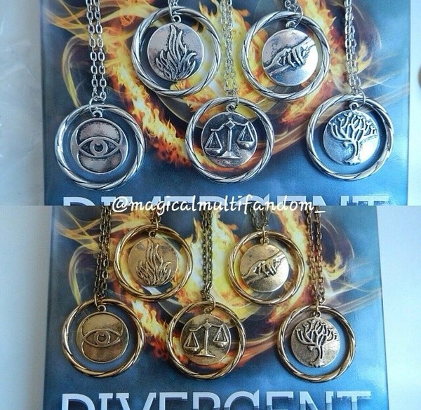 jewels divergent shailene woodley book necklace