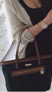bag,brown bag,blackbag,black,gold,zip,handbag,women shoulder bags