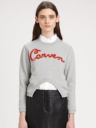 Carven - Cutout Carven Sweatshirt - Saks.com