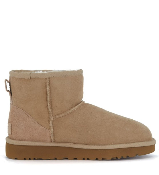 mini classic ankle boots suede beige shoes