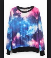 sweater,universe,galexy,shirt,sweatshirt,galaxy print,galaxy sweater,jeans