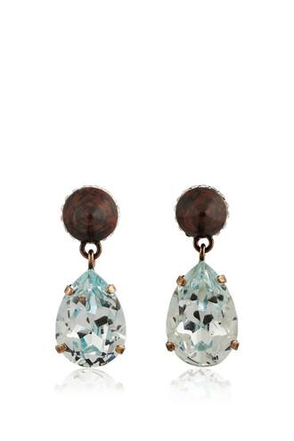 earrings pendant blue sky blue jewels