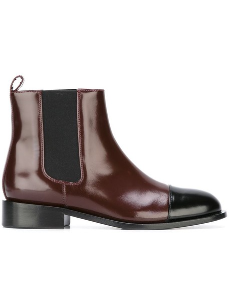 MARNI boots chelsea boots red shoes