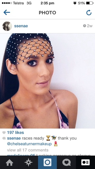 hair accessories black clothes mesh fascinator silver fishnet
