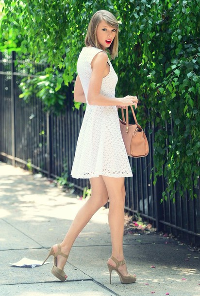 taylor swift white dress dress