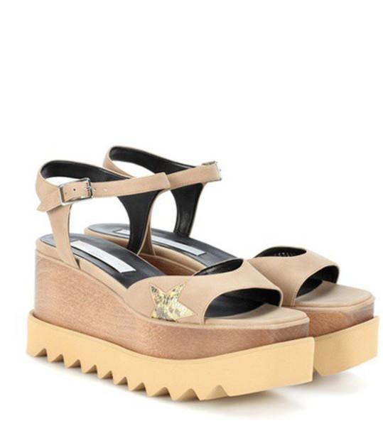 Stella McCartney Elyse platform sandals in brown