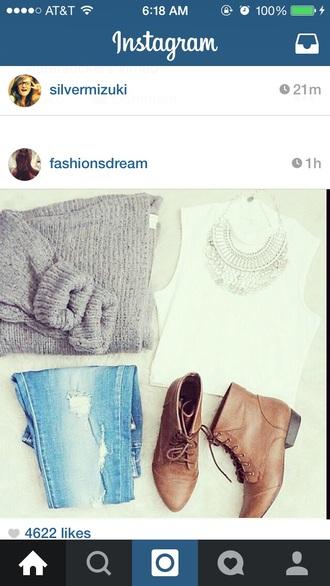 soft grunge sweater fashion fall sweater fabric