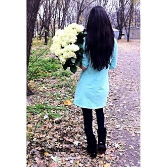 dress clothes roses ugg boots boots girly girl black black hair denim denim dress fall outfits want want want! leggings