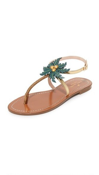 sandals gold bronze shoes