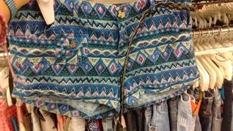 shorts aztec print printed shorts