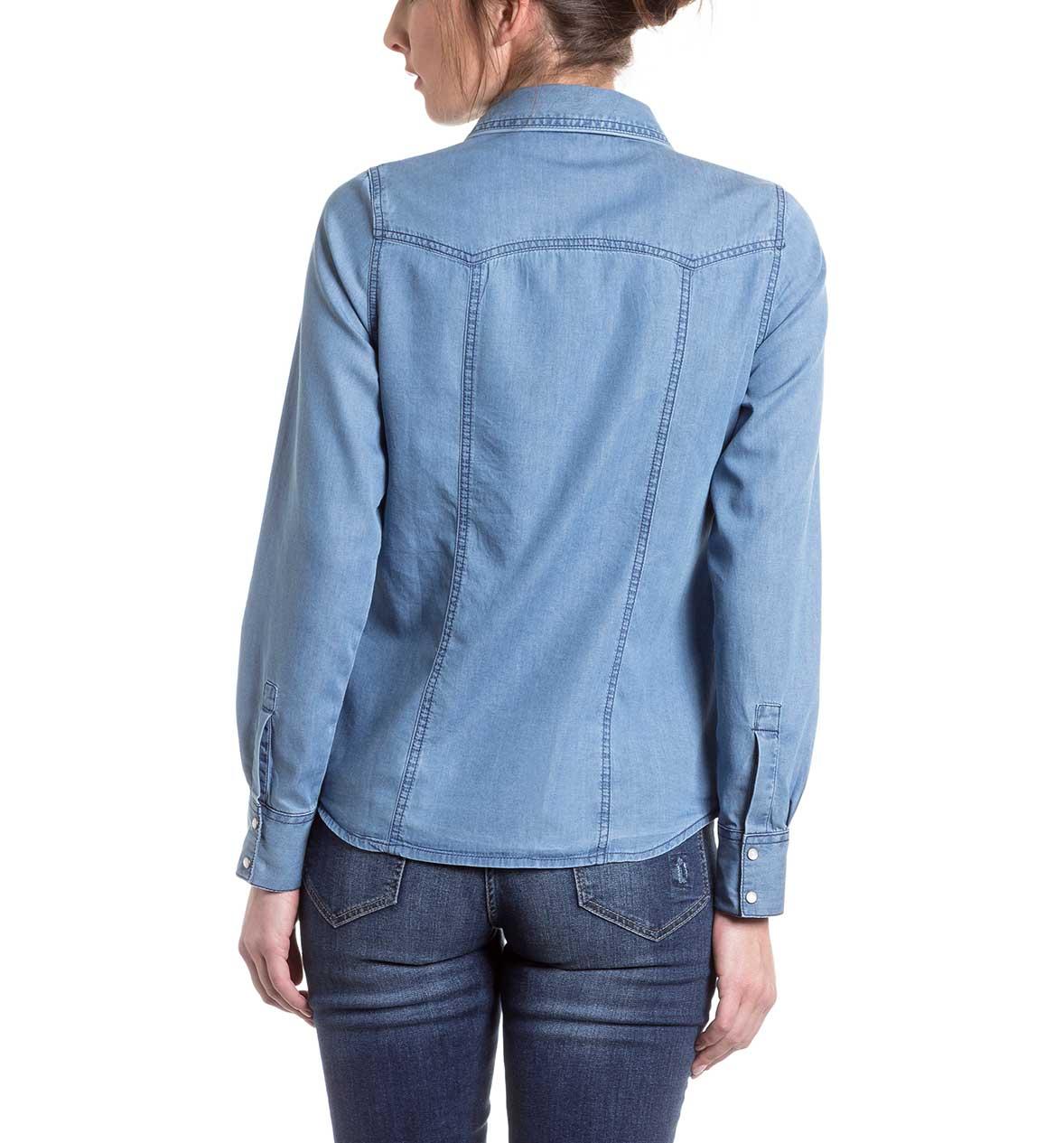 Blusas y camisas Blusa en vaqueros - azul – los mejores precios en C&A