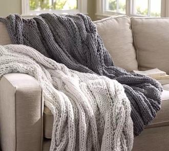 home accessory blanket grey knitwear cozy