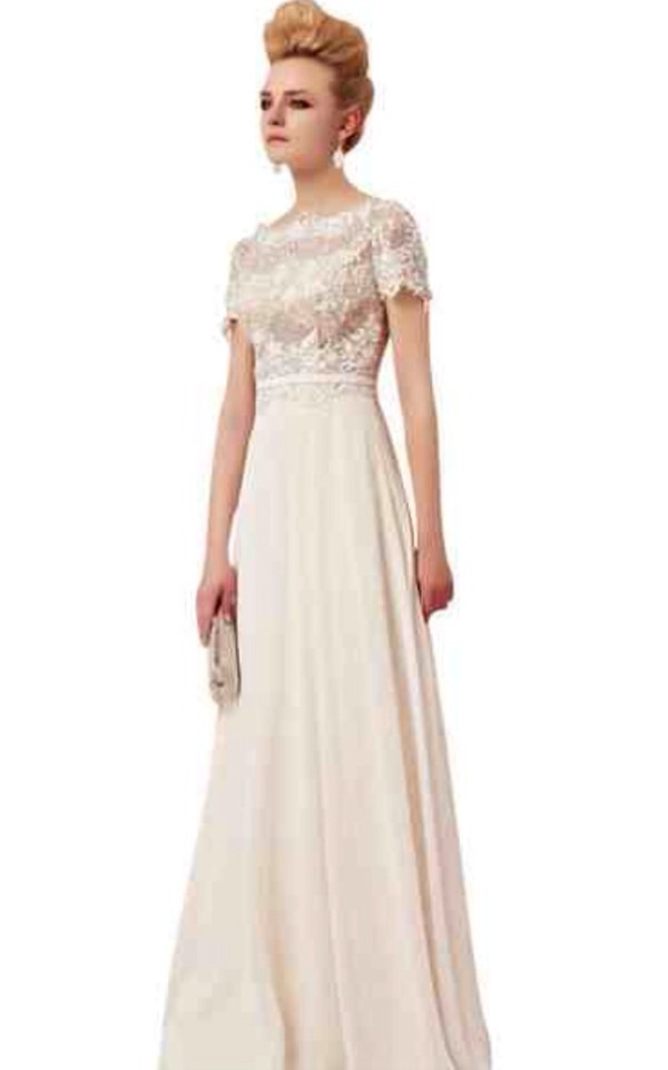 dress elliot claire london wedding chiffon sleeves